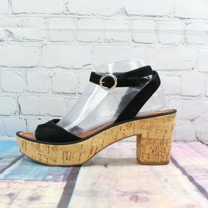 DVF Suede Ankle Strap Sandals Size 7.5 M